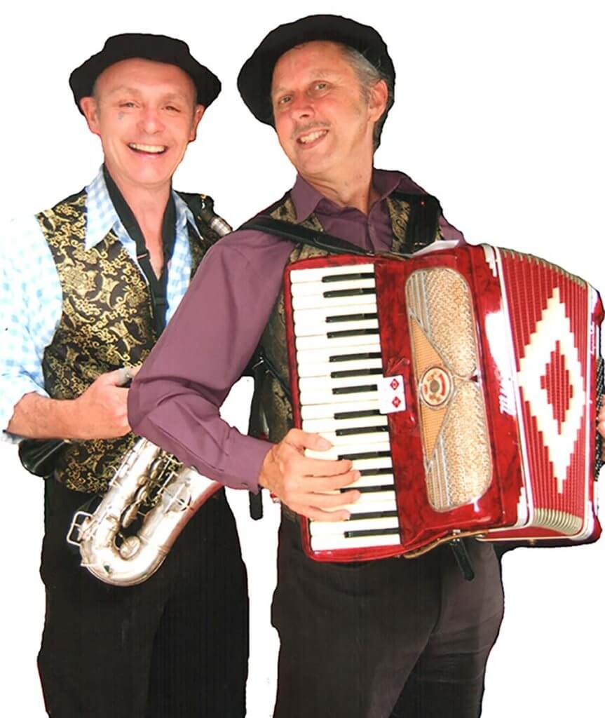 Saxophone player and accordionist