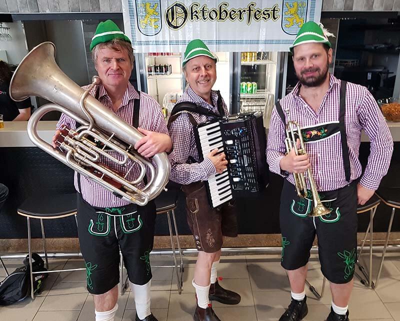 Oktoberfest with tuba, accordion and trumpet